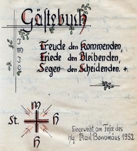 Gästebuch Segen 1952